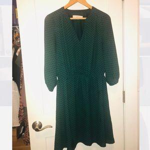 LOFT green dress size M